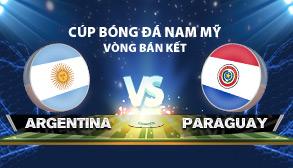 cúp bóng đá nam mỹ chile 2015 - Argentina vs Paraguay